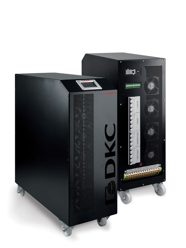 TRIO è una gamma di UPS trifase disponibile in tre modelli compatti (con una potenza rispettivamente di 30, 40 e 50 kW).