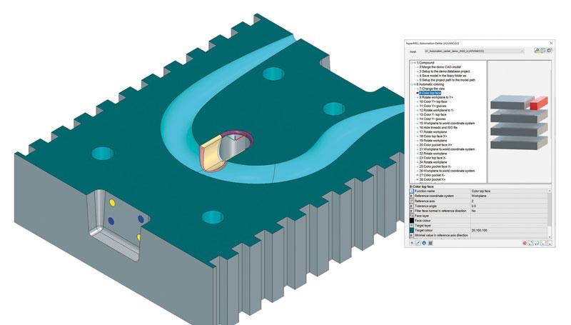La progettazione parametrica in hyperCAD®-S permette, partendo da un modello iniziale, di creare diverse varianti di varie dimensioni.