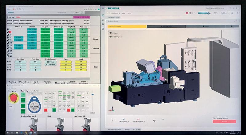Come CN, è possibile scegliere tra un Siemens 840D SL e, in opzione, la nuova unità di governo nativa digitale Sinumerik-ONE.