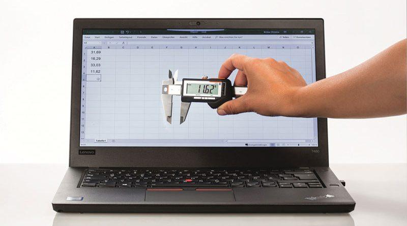 I valori rilevati dal calibro digitale GARANT HCT vengono trasmessi via Bluetooth ad un PC, un tablet o alla App dello Smartphone.