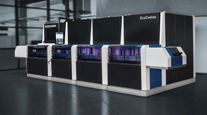 EcoCvelox combina le operazioni di sbavatura e lavaggio con un'automazione molto rapida, eseguibili in modo efficiente in un unico impianto.
