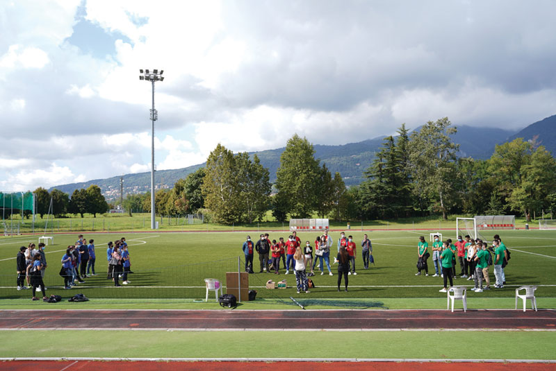 A dare il via all'Academy, un'intera giornata nel segno dello Sport.