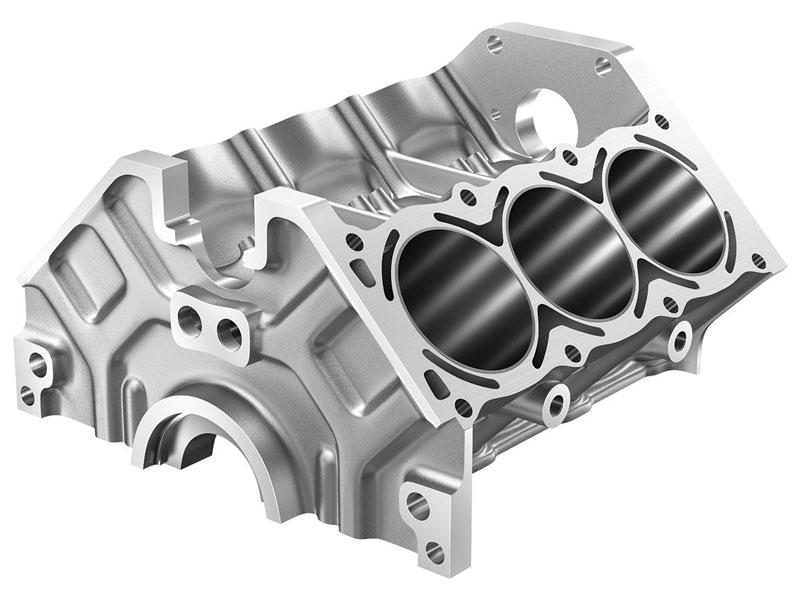 La punta CoroDrill® 860-GM viene utilizzata con successo nella lavorazione dei blocchi motore.