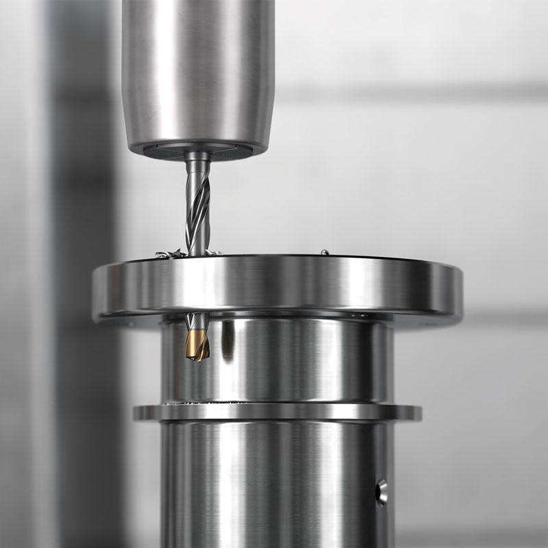 CoroDrill® 860-GM può lavorare diversi gruppi di materiali: ISO-P,  ISO-M, ISO-K, ISO-N.