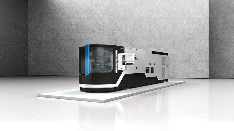 Il caricamento dei pezzi può avvenire in modi diversi in funzione delle specifiche esigenze, grazie alla cinematica aperta delle macchine che lascia ampio spazio al dispositivo di carico.