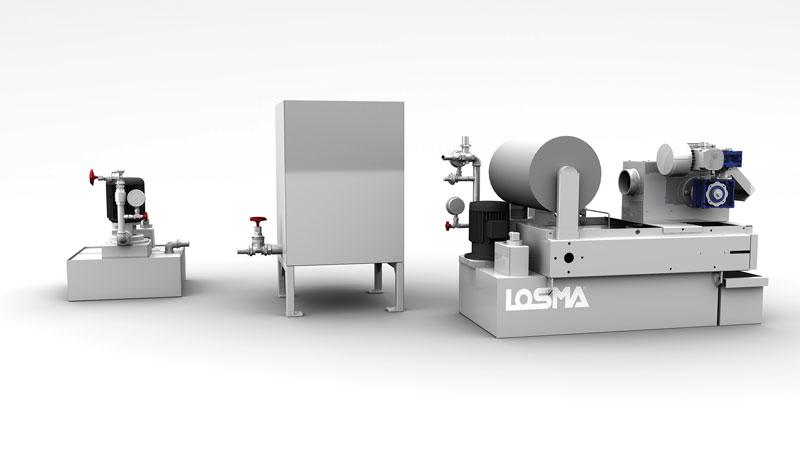 Tra le novità presentate in anteprima da Losma in fiera anche il depuratore Filterjet, indicato per la filtrazione dell'acqua utilizzata negli impianti water jet.