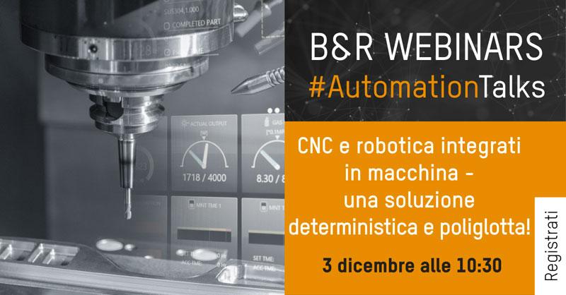Webinar su CNC e robotica integrati in macchina