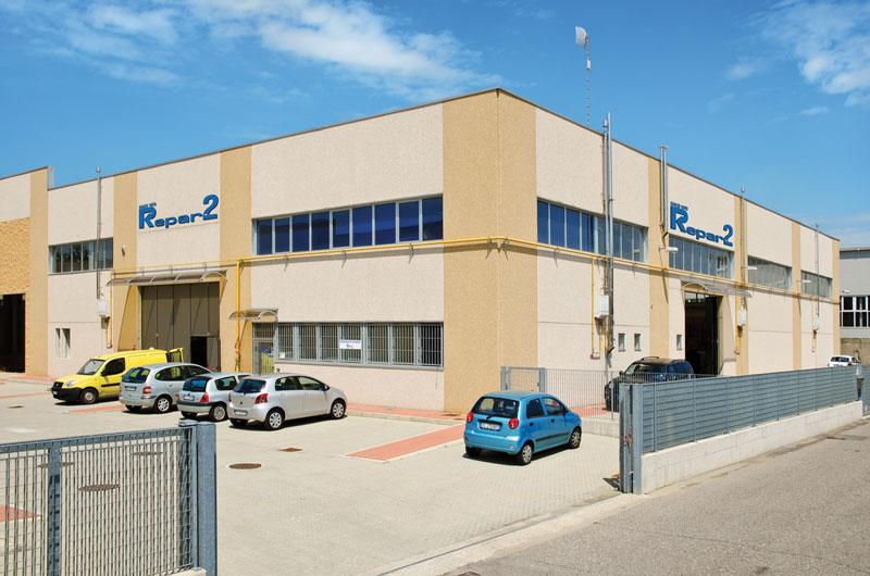 Lo stabilimento di Repar2 a Gorla Minore, in provincia di Varese.