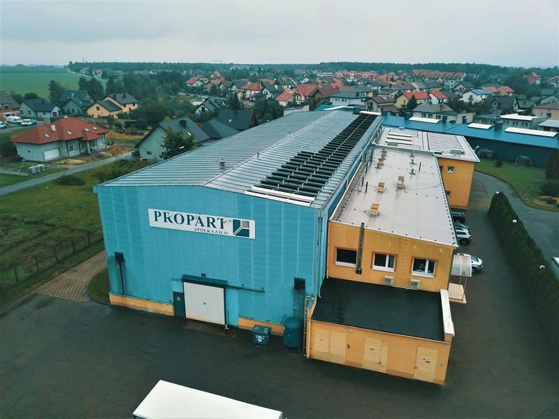 Vista dello stabilimento di Propart, in Polonia.