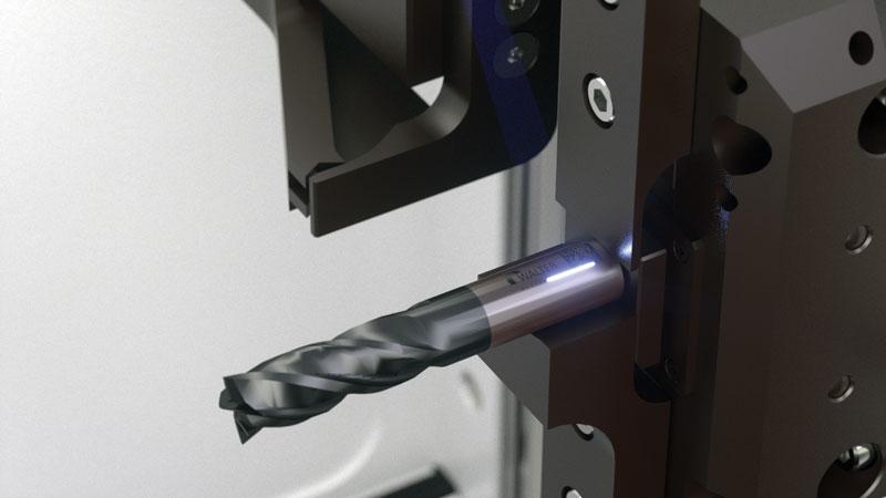 Marcatura laser sul gambo dell'utensile.
