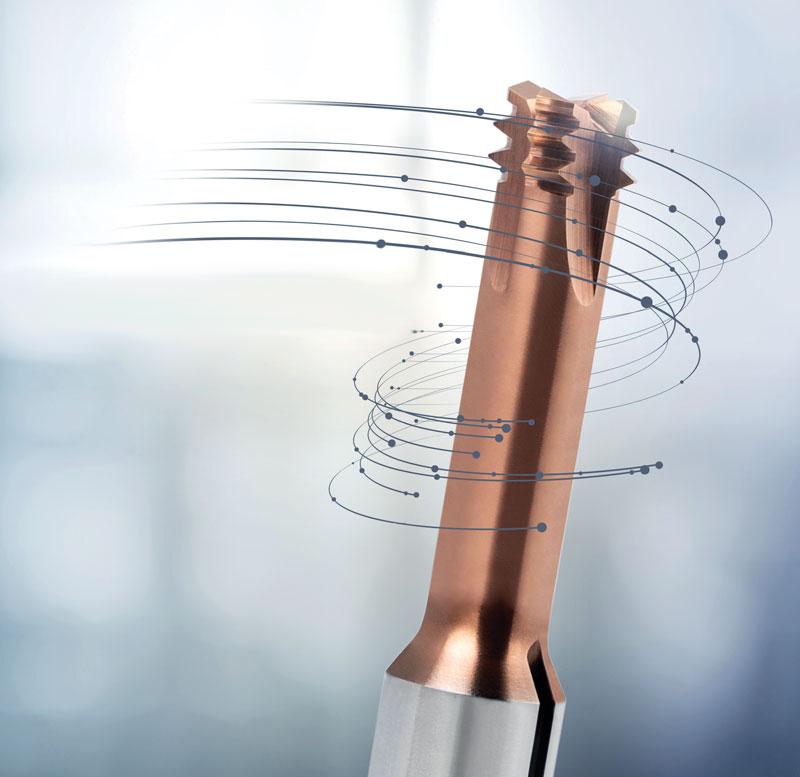 MTMH3-Z è la sigla che identifica la nuova fresa fora-filetta circolare per acciai ad alta resistenza e temprati a marchio Gühring.