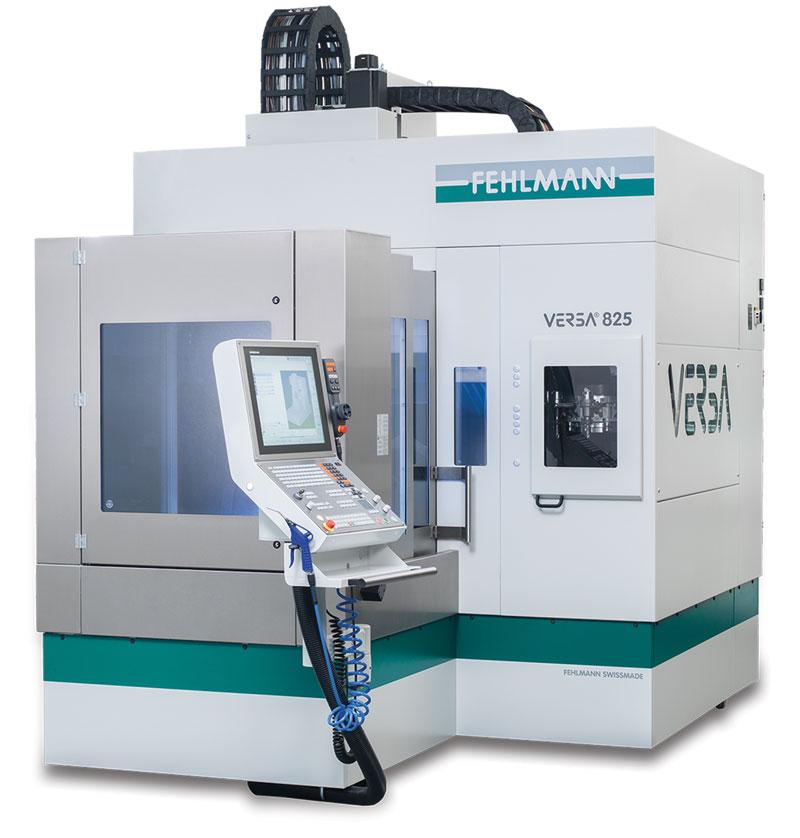Nonostante il peso superi le 10 tonnellate, il centro Fehlmann VERSA 825 resta una macchina molto compatta.