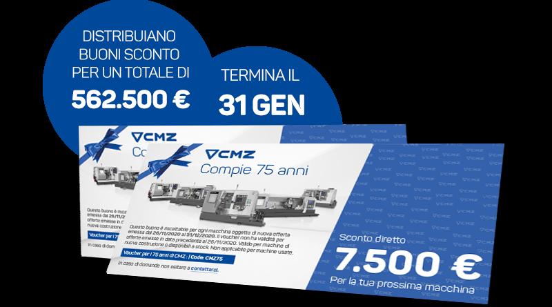 Un voucher di 7.500 Euro per festeggiare i primi 75 anni