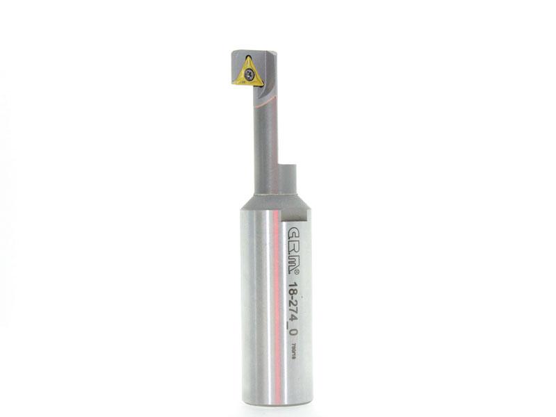 Retrolamatore speciale con componente in metallo duro, brasato con trimetallico, che assicura assenza di cricche nella zona di saldatura.