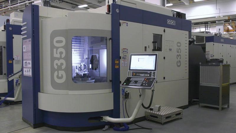 Per realizzare il portamozzo, è stato scelto un centro di lavoro orizzontale Grob G350.