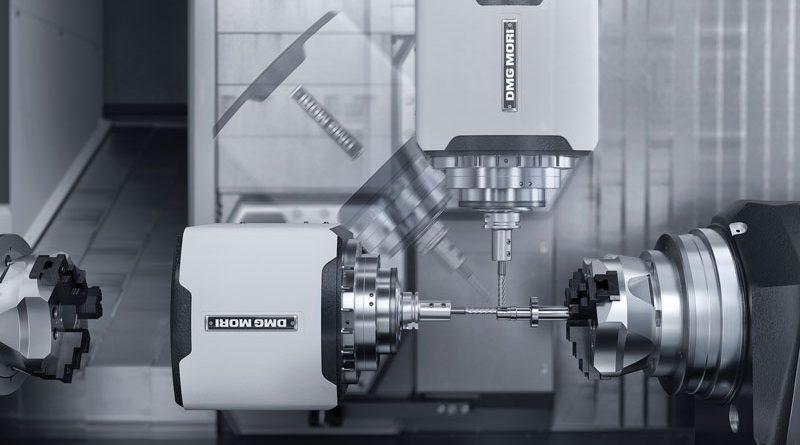 Il concetto di macchina con asse B richiede solo un utensile per il mandrino principale e il contromandrino.