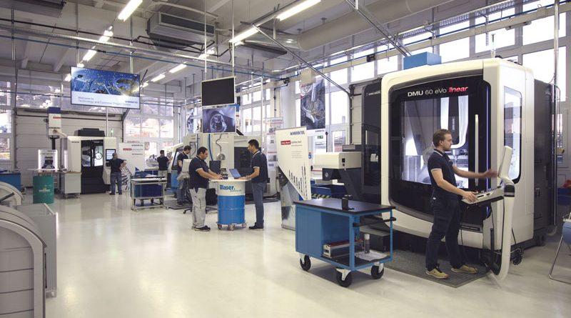 Vista del Technology & Customer Project Center di Mikron Tool SA Agno.