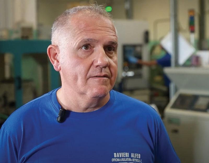 Alberto Bavieri, titolare dell'Officina Meccanica di Precisione Bavieri Alfeo.