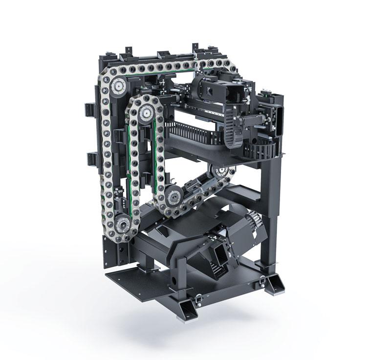 La particolare configurazione della macchina assicura un certo grado di personalizzazione.