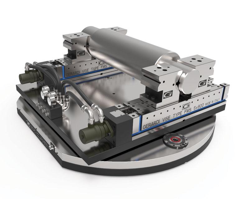 La piastra Zero Point, controllabile direttamente dal CNC della macchina, assicura un posizionamento preciso e rapido della morsa GripMatic.