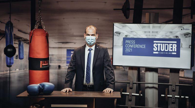 Un momento della conferenza stampa online di Studer.