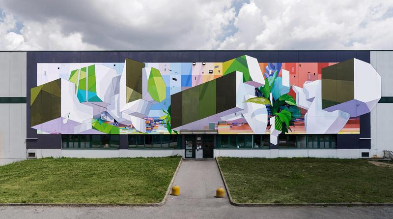 Uno stabilimento/galleria d'arte urbana a cielo aperto
