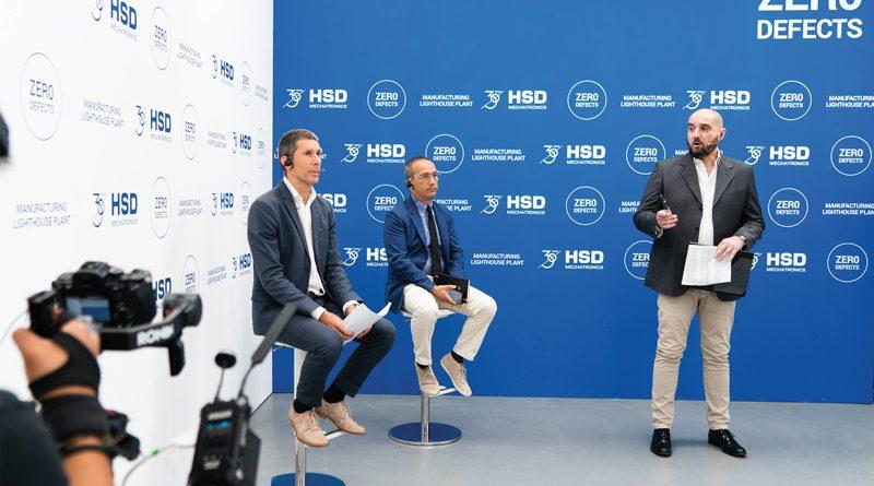 """Un momento dell'evento digitale organizzato da HSD Mechatronics durante il quale è stato presentato il progetto """"Zero Difetti""""."""