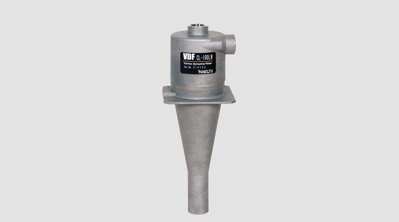 Il filtro dinamico a vortice Nikuni VDF in acciaio inossidabile.
