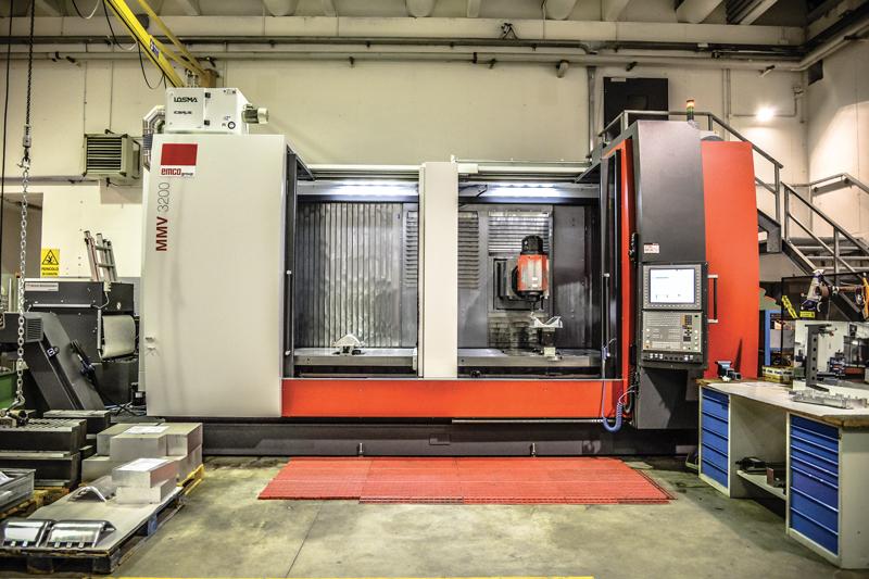 """Il centro MMV 3200 attualmente installato in Falser ha ancora i """"vecchi"""" colori della macchina, che proprio recentemente è stata oggetto di un restyling importante."""