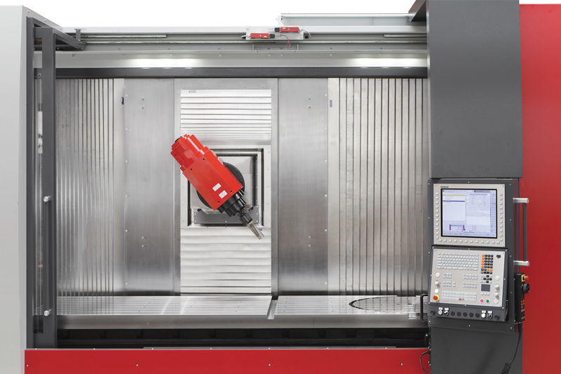 L'elettromandrino ad alte prestazioni che equipaggia il centro MMV 3200 è in grado di raggiungere un regime massimo di rotazione pari a 15.000 giri/min.